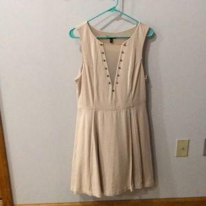 Tan studded dress